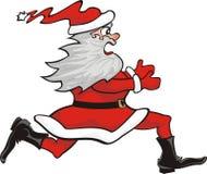 Santa claus running Royalty Free Stock Image