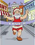 Santa Claus running Stock Photo