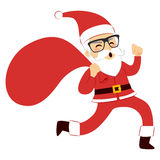Santa Claus Running Stock Photography