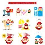 Santa Claus-Sätze Lizenzfreies Stockfoto