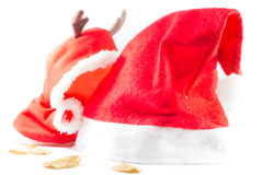 Santa Claus's hat and cuteyclothes Royalty Free Stock Image