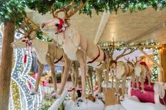 Santa Claus& x27; s kukiełkowy renifer, dekoracja dla bożych narodzeń Zdjęcia Royalty Free