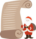 Santa Claus's List Royalty Free Stock Images