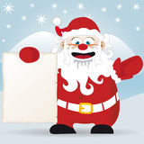 Santa Claus's Message. Santa Claus holds up the message vector Royalty Free Stock Photos