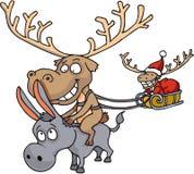 Santa Claus's reindeer Royalty Free Stock Image