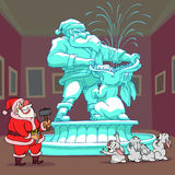 Santa Claus's Sculpture Stock Photo