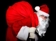 Santa Claus with a sac Royalty Free Stock Image