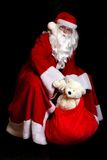 Santa Claus with a sac Stock Images