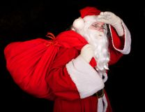 Santa Claus with a sac Stock Photography