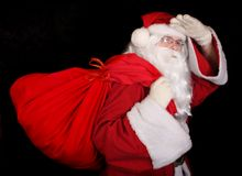 Santa Claus with a sac Royalty Free Stock Photography
