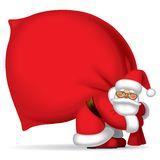 Santa Claus with sack Stock Image