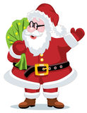 Santa claus with a sack Royalty Free Stock Photography