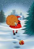 Santa Claus with a sack Stock Photos