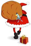 Santa Claus with sack Royalty Free Stock Photography