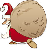 Santa claus with sack Royalty Free Stock Image