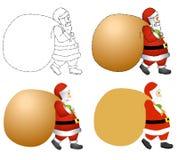 Santa Claus Sack Background royalty free illustration