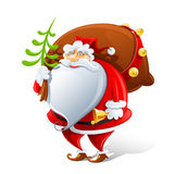 Santa Claus with sack and bell Royalty Free Stock Photography