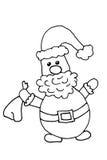 Santa claus with sack and big beard Royalty Free Stock Photo