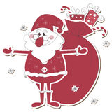 Santa Claus with sack full of gifts Stock Photography