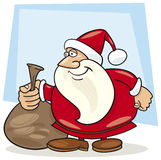 Santa claus with sack of gifts Stock Photography