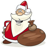 Santa claus with sack of gifts Stock Image
