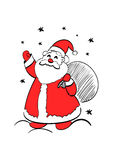Santa claus with sack of gifts Royalty Free Stock Photo