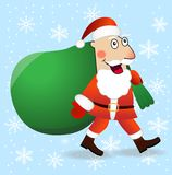 Santa claus with the sack of gifts Royalty Free Stock Photography