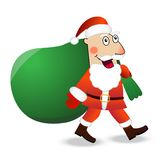 Santa claus with the sack of gifts Stock Photos