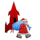 Santa claus with the sack of gifts Stock Image