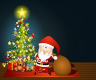 Santa Claus Sack of Toys Royalty Free Stock Image