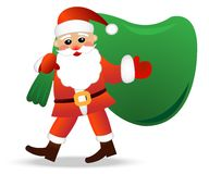 Santa claus with a sack on a white background Royalty Free Stock Image
