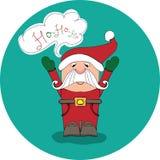 Santa Claus sagt ho-ho-ho - Vektorbild Stockbild