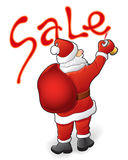 Santa Claus, sale. Christmas sale, discounts and Santa Claus. Vector illustration Royalty Free Stock Photos