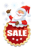 Santa Claus sale Royalty Free Stock Image