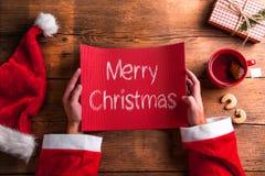 Santa Claus sammansättning Fotografering för Bildbyråer
