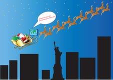 Santa Claus Satellite Navigation Royalty Free Stock Photo
