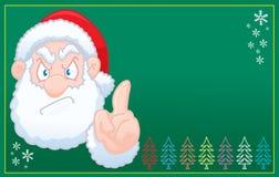Santa Claus says no christmas card Stock Photo