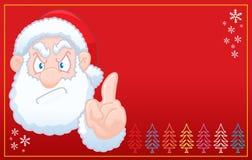 Santa Claus says no christmas RED card Royalty Free Stock Image
