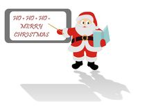 Santa Claus at school Stock Photo