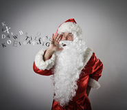 Santa Claus is screaming. Santa Claus is screaming to somebody stock image