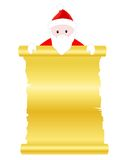 Santa claus scroll paper Stock Photography
