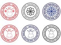 Santa Claus seal  illustration. Set of Santa Claus seals  illustration Stock Photos