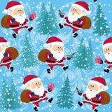 Santa Claus, seamless Stock Photo