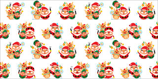 Santa Claus seamless Stock Images