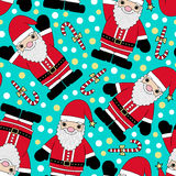 santa claus seamless pattern Royalty Free Stock Photo
