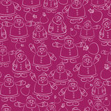 Santa Claus seamless pattern  Stock Photography