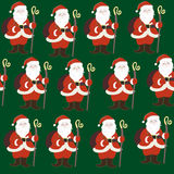 Santa Claus seamless pattern Royalty Free Stock Photography