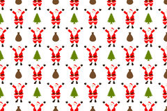 Santa claus seamless pattern. Vector Royalty Free Stock Image