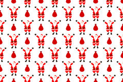 Santa claus seamless pattern. Vector Stock Photo