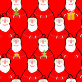 Santa Claus seamless pattern. Vector background for new year. Ma Stock Images